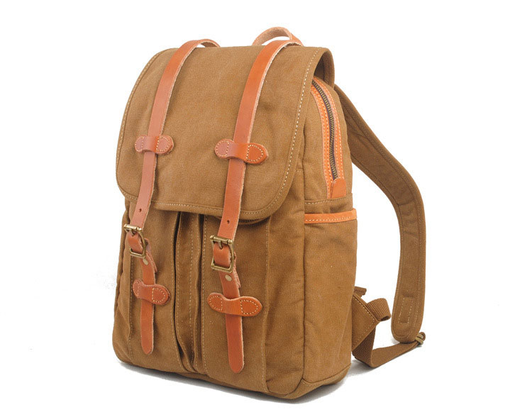 2015 hot sale fashion design canvas leather sports leisure bags backpack