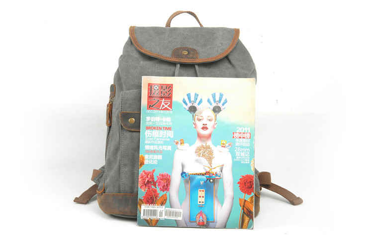 China factory high quality canvas girls unique cheap rucksacks backpack