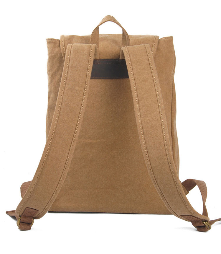 New product canvas leisure school back pack, unisex gender plain back bag
