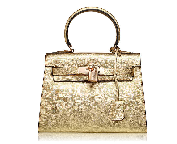 Popular design champagne leather women's tote bag for spring 2016