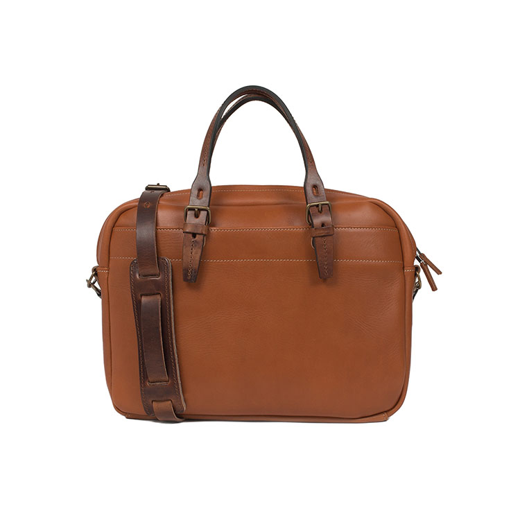 Durable vegetable tanned leather satchel crossbody bags for men