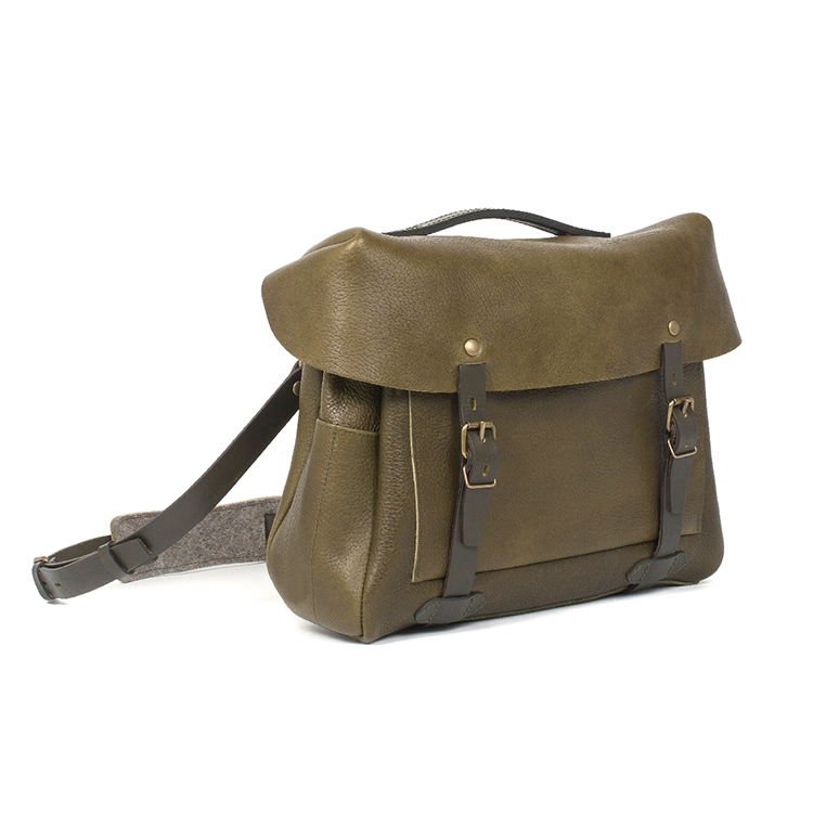 High end european style vintage leather mens motorcycle bag messenger bag