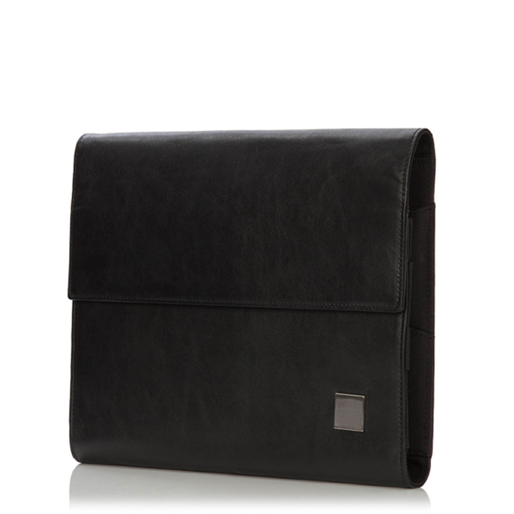 Luxury factory wholesale price black leather tablet sleeve bag for business