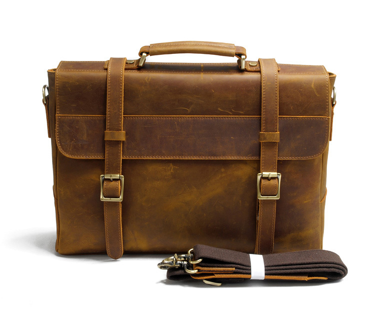 2017 vintage style hand stitched men leather messenger laptop bag leather briefcase