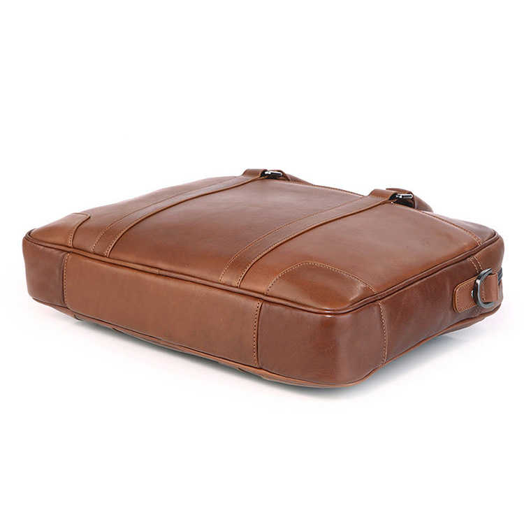 China factory price good quality light brown mens leather laptop briefcase designer bags