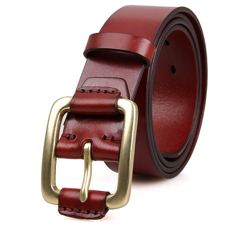 2017 newest top quality red italy leather designer belts for men