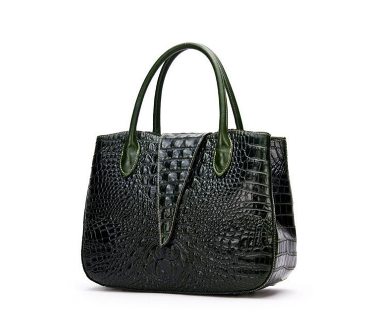 2016 new arrival croc print leather lady tote bag