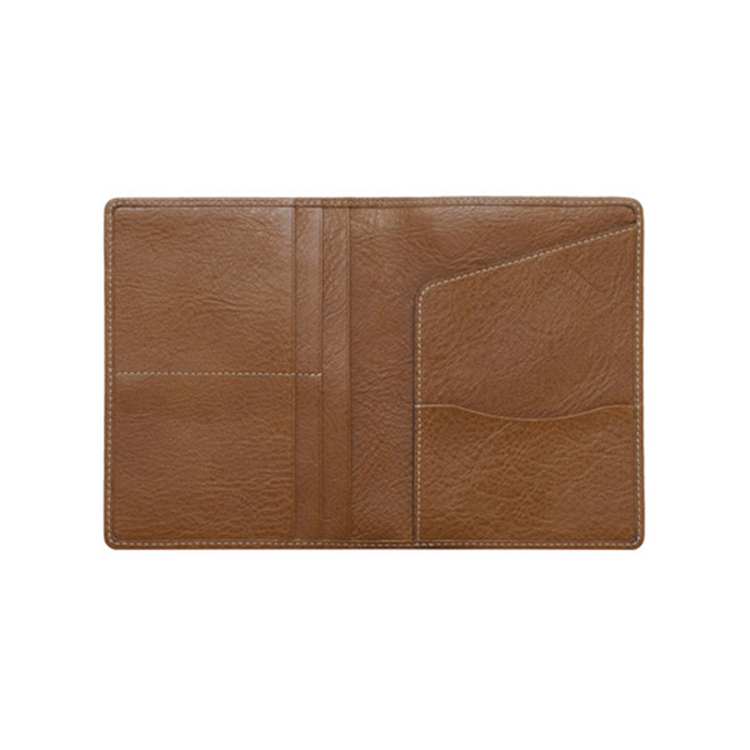 Wholesale price customized full grain leather passport cover holder travel case