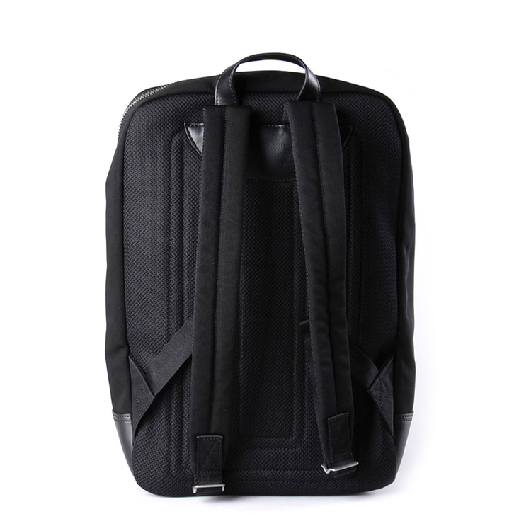 Fashional newest design black canvas with leather backpack for men
