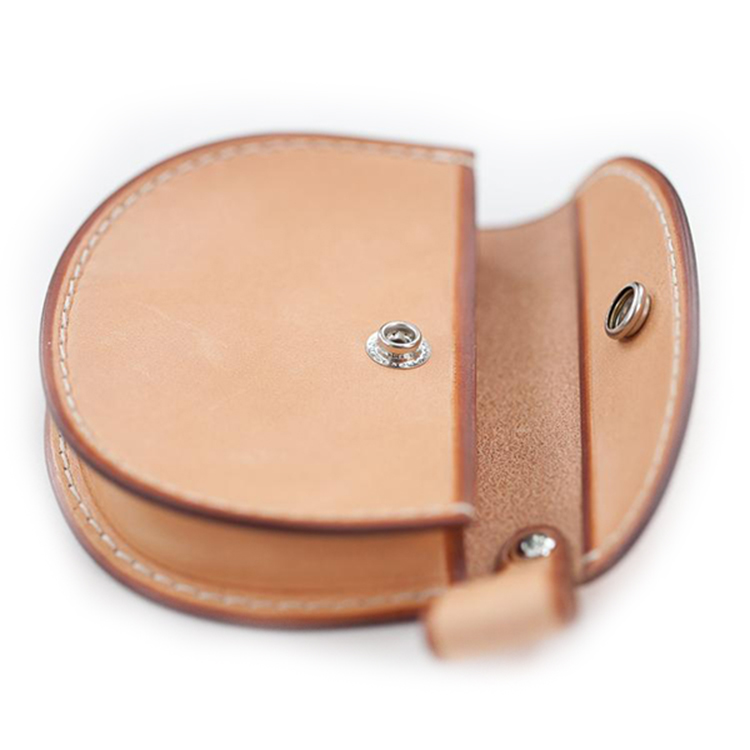 Factory wholesale oem real leather euro coin holder bag