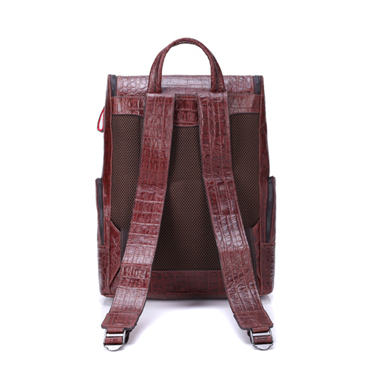 2017 luxury style designer croc print leather laptop backpack bags