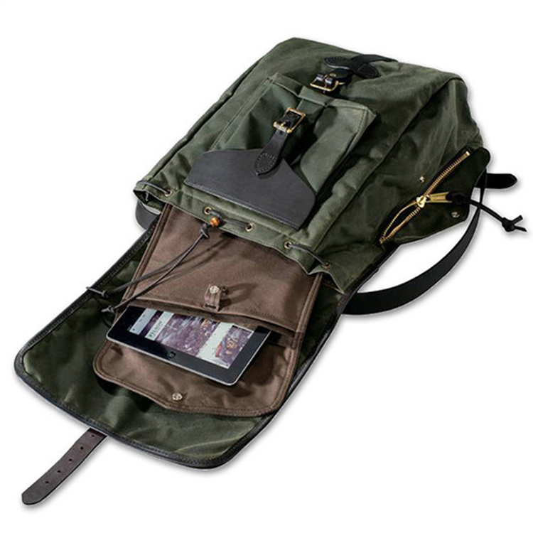 American brand design good quality waterproof canvas leather rucksack