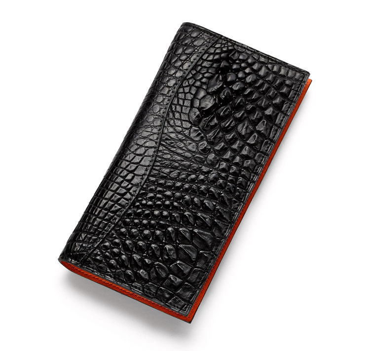 Hign end handmade genuine crocodile leather wallet manufacturer