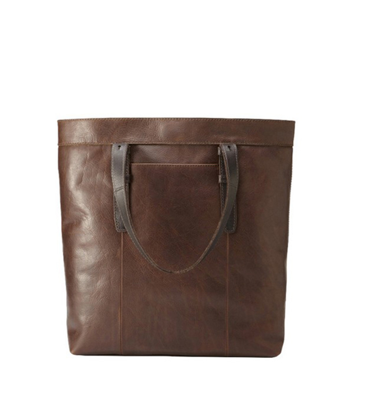 Branded new design vintage style italy leather tote bag for man china factory