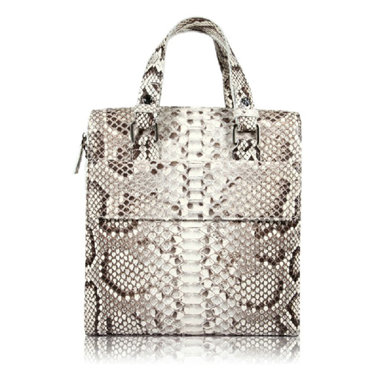 Famous designer luxury real python skin leather handbag tote bag for business