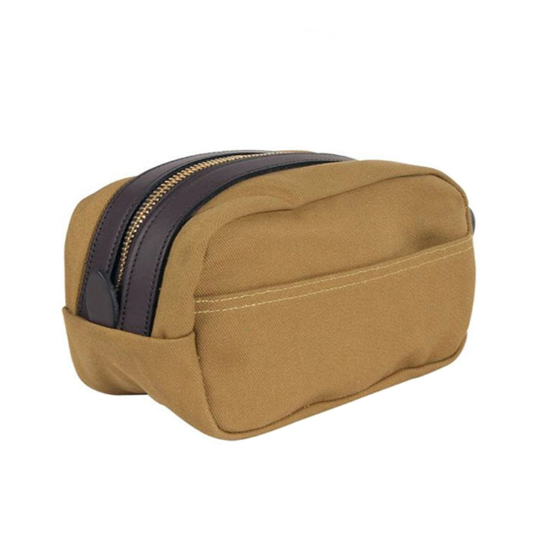 High quality factory price waterproof leather travel wash bag for men