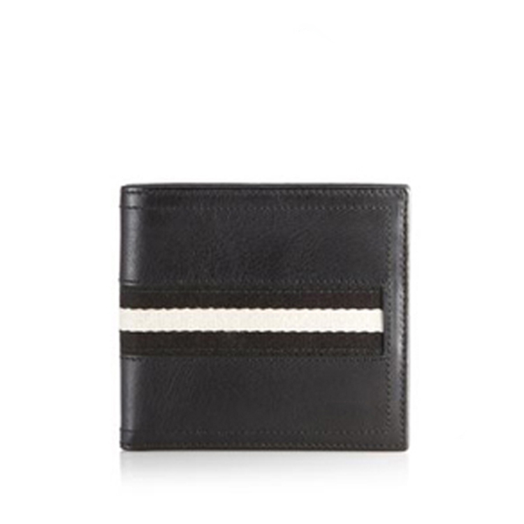 Popular design genuine leather rfid card wallet for men