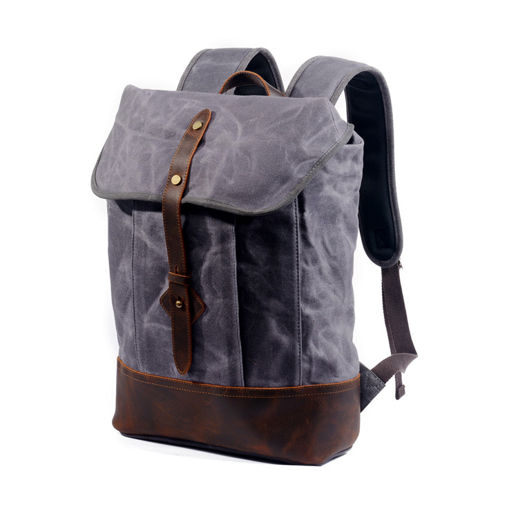 Factory cheap price good quality canvas school bag laptop backpack for student