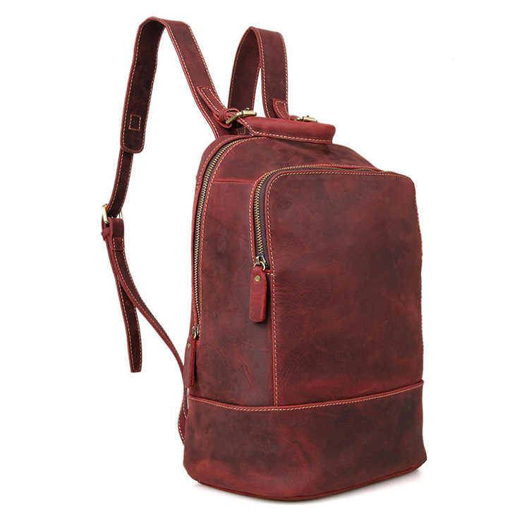 China factory custom design leather best laptop backpack school bags for girls