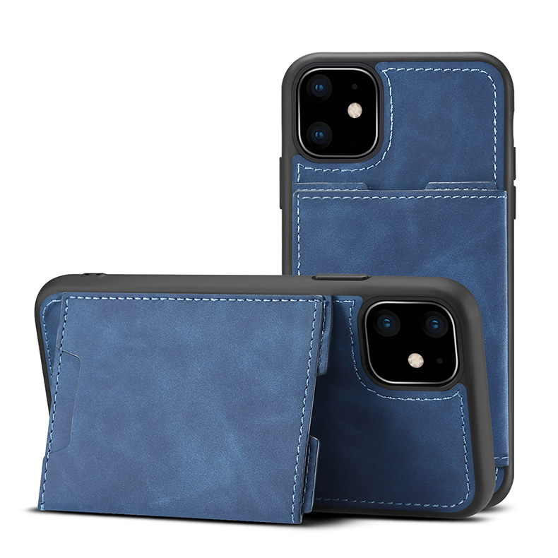 Custom design good price PU leather mobile phone housing leather iphone11 cases
