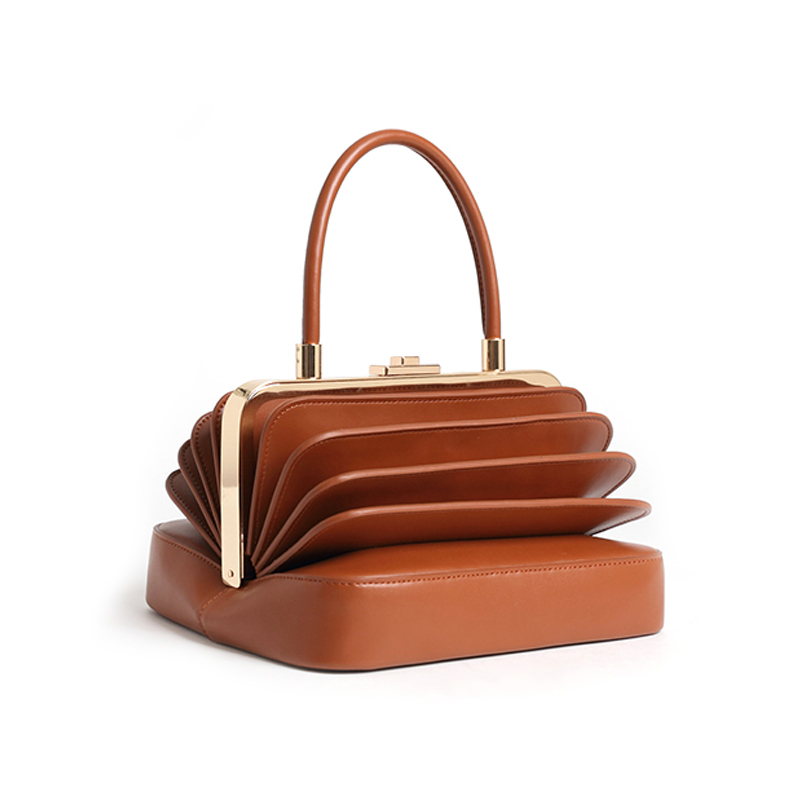 China factory new design good quality real leather handbag fashion women purse