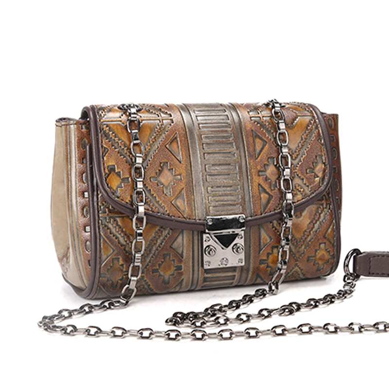 Factory cheap price good quality vintage style leather ladies handbag women sling bag