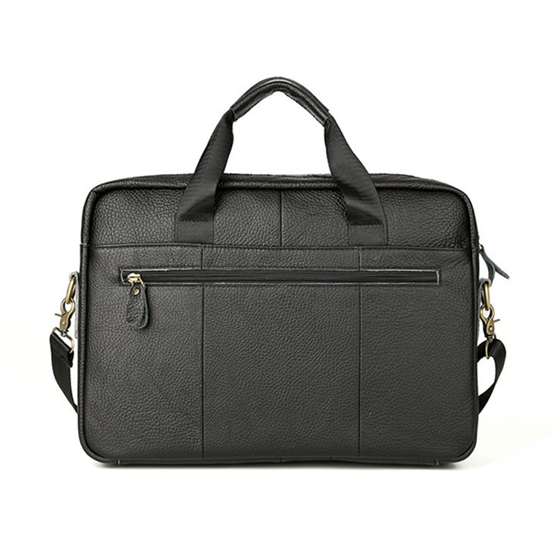 Wholesales price high quality black grain leather business bag genuine leather men briefcase