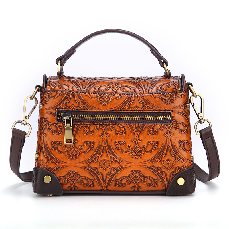 Hot selling good quality cow leather women handbag fashion style ladies purse