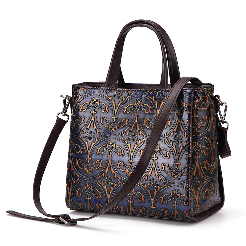 New arrivel fashion designer bag vintage style genuine leather handbag women's purse