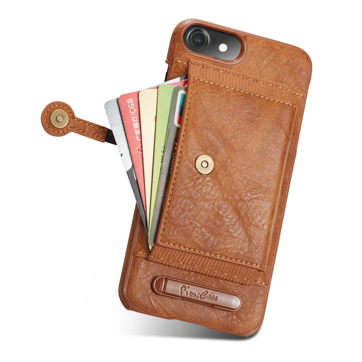 2018 Hot sale business gift good quality cow leather iphone6 case with cards holder