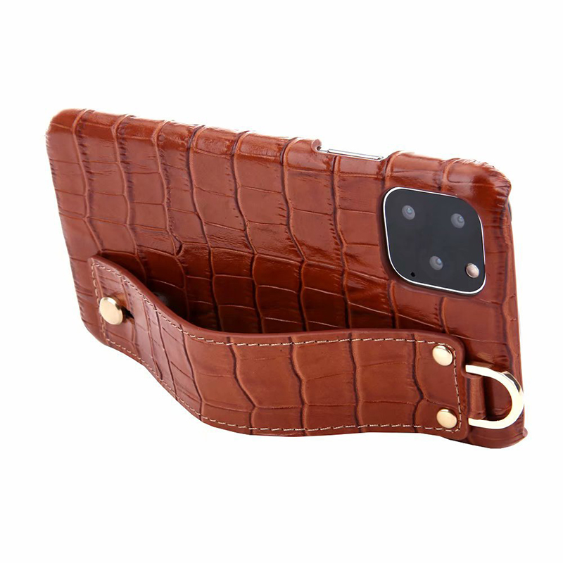 New arrivel factory price good quality crocodile grain leather mobile phone cases for iphone11