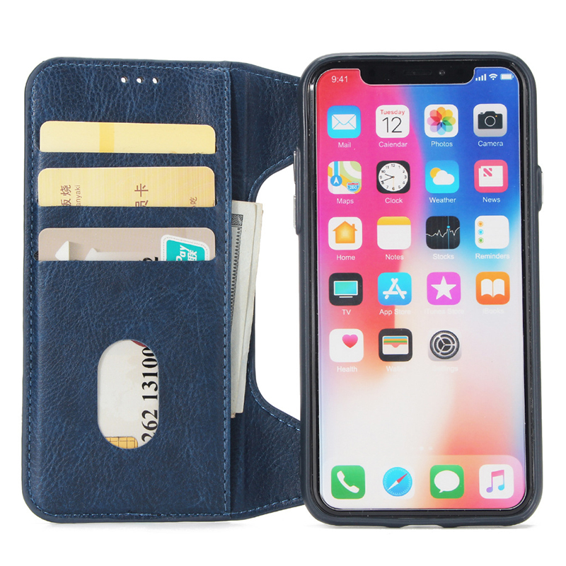 2018 Newest design multi function genuine leather iphoneX case with cards holder