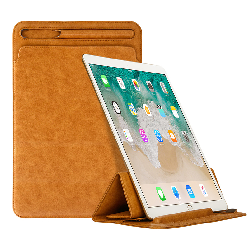 New design good quality genuine leather ipad case sleeve leather tablet case for ipad 9.7