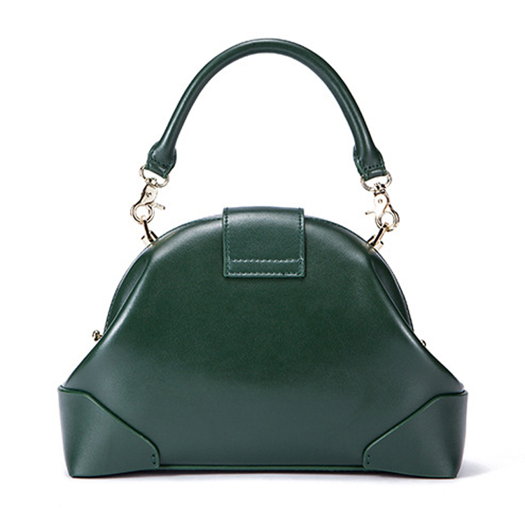 Famous brand design good quality green leather tote bag leisure bag for women