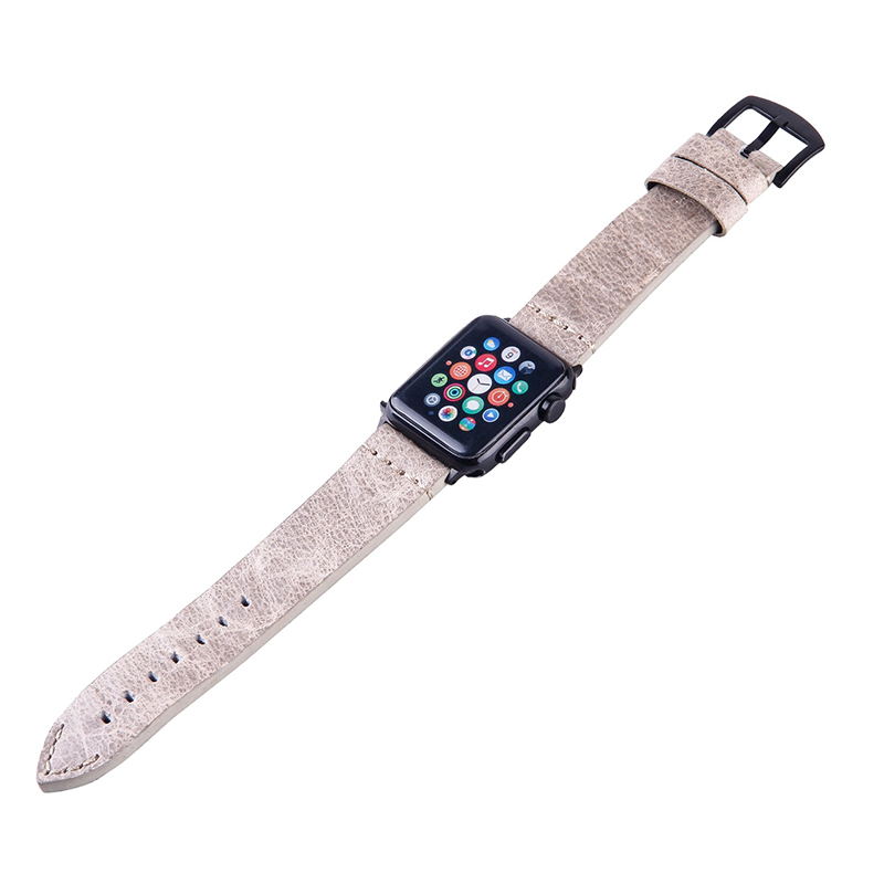 Hot sales low price good quality genuine leather apple watch bands leather watch straps