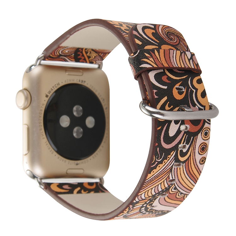 38mm 42mm Promotional gift good quality colorful microfiber leather watch strap