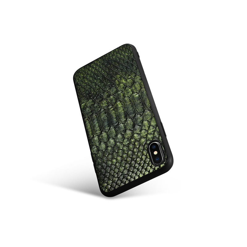 Cheap price good quality python print PU leather mobile phone cover leather iphonex cases