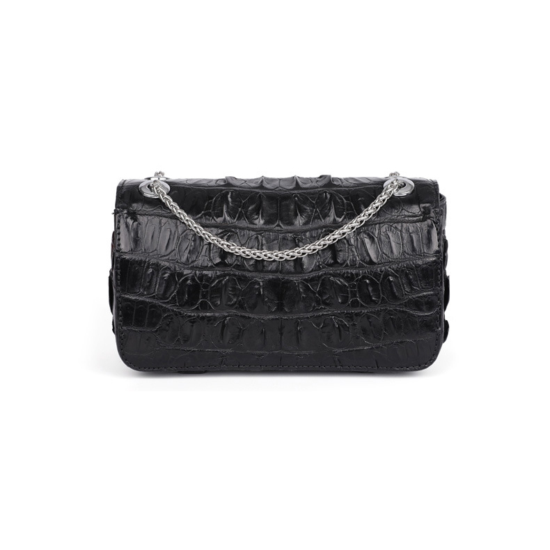 Branded luxury design crocodile skin leather ladies handbags genuine leather women purse