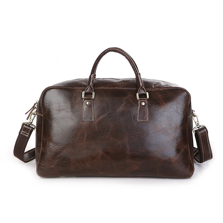 China factory best quality leather weekender travel bags for men