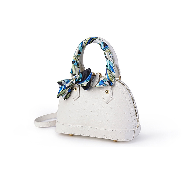 Cheap price good quality designer bag ostrich patter leather ladies handbags leather women handbags