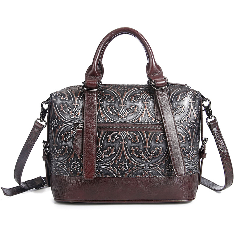 Wholesale price good quality designer hand bag retro style real leather women purse