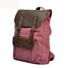 New Trendy Vintage Waxed Canvas rucksack Backpack for school