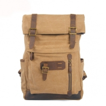 High quality OEM ODM china cotton canvas backpack for sport