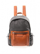 Popular design custom wax canvas leather school backpack for teenagers