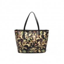 China factory price custom printing leather tote shoulder bags for women