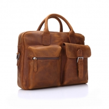 High quality vintage style leather briefcase tote laptop bag