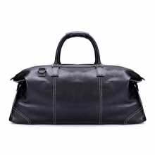 Low price oem vintage top layer leather shoulder travel bag for business men