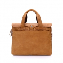 Newest arrival camel color men leather laptop briefcase bag