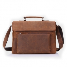 Wholesale price oem brand mens crazy horse leather messenger bag