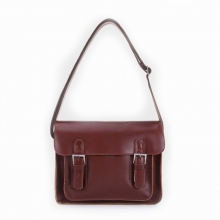 Good quality handmade leather cross body shoulder bag